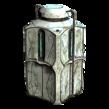 Contenedor de almacenamiento abandonado