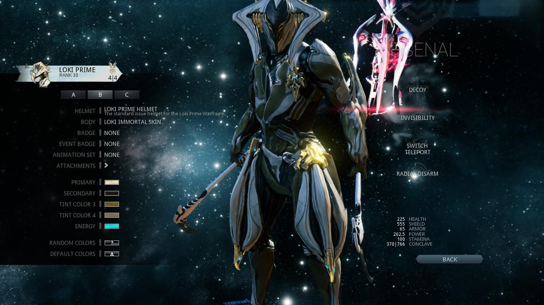 Loki Prime Immortal Skin