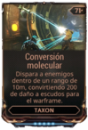 Conversión molecular