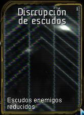 Disrrupcion de escudo