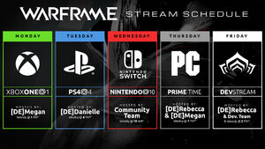 Dev119-StreamSchedule