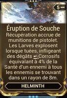 Éruption Souche