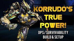 Warframe KORRUDO'S TRUE POWER RED CRIT ONE SHOT LIFE STEAL BUILD