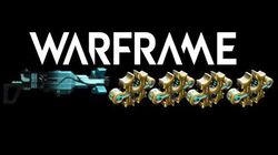 Warframe Prisma Tetra showcase with 4 Forma