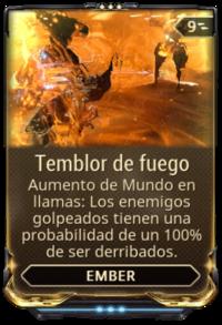 Temblor de fuego