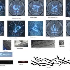 Examples of Orokin writing