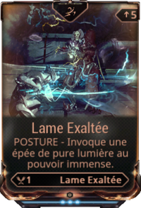 Lame Exaltee stance