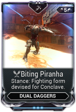 Biting Piranha Warframe Wiki Fandom Powered By Wikia