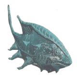 Estatuillas de peces milenarios