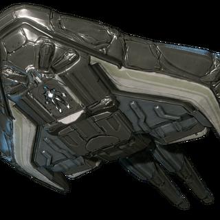 飞船的下部,可以看到一个Limbo战甲正在里面。