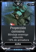 Proyección corrosiva