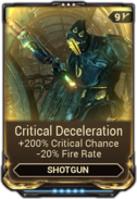 Critical Deceleration