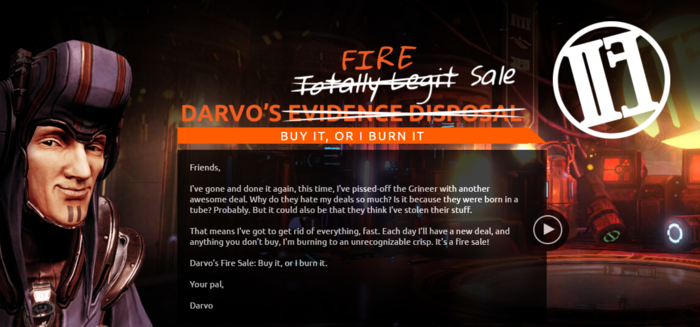 Darvo Fire Sale