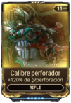 Calibre perforador