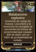 Malabarismo explosivo
