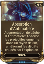 Absorption d'Antimatière