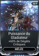 Puissance du Gladiateur