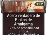 Acero verdadero de Ripkas de Amalgama