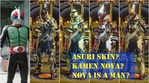 Warframe- Kamen Rider Nova Asuri Skin and Shocking Bug