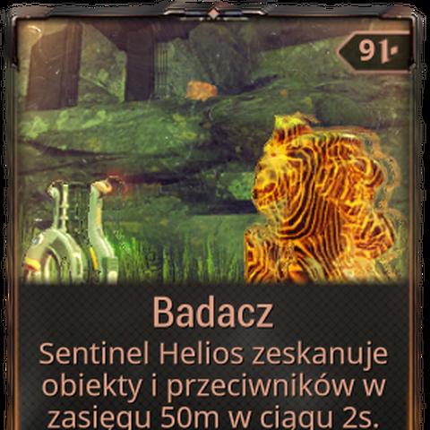 <b>Badacz</b><br />Pozwala strażnikowi na wykonywanie skanów obiektów. Zużywa Skanery.