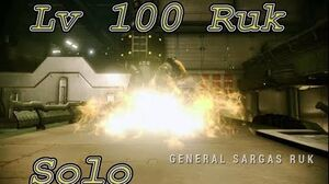 Warframe solo lv100 Sargas Ruk with builds