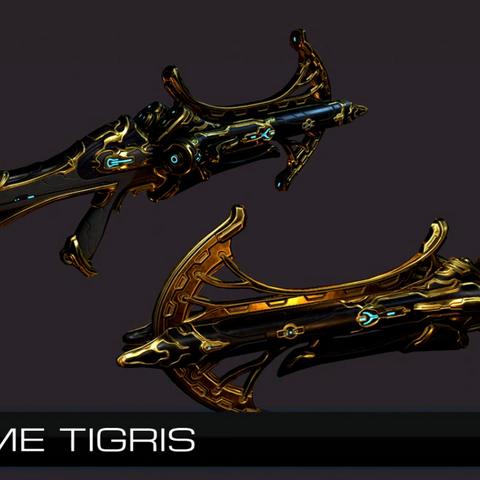 Zdjęcie pochodzące z TennoCon 2016 przedstawiające Tigrisa Prime