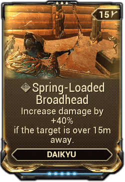 Spring Loaded Broadhead Warframe Wiki Fandom Powered By Wikia