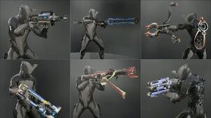 Warframe - All Corpus Primaries - Weapon Animations & Sounds (2012 - 2019)