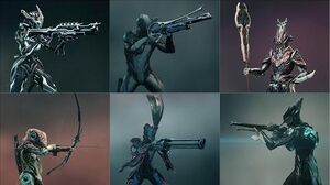Warframe - All Tenno Primaries - Weapon Animations & Sounds (2012 - 2019)
