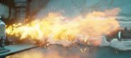 Cañería gastada explosión
