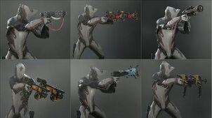 Warframe - All Grineer Secondaries - Weapon Animations & Sounds (2013 - 2019)
