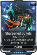 Sharpened Bullets