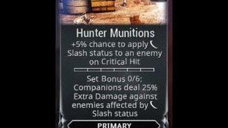 WARFRAME - Hunter Munitions
