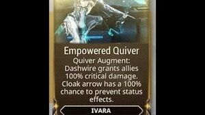 WARFRAME - Ivara Empowered Quiver (Augment)