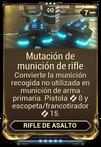 Mutación de munición de rifle