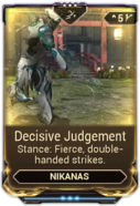 Decisive Judgement