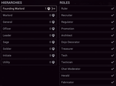 Clans Rank and Roles