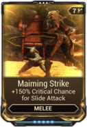 Maiming Strike
