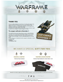 Founders Gift Email