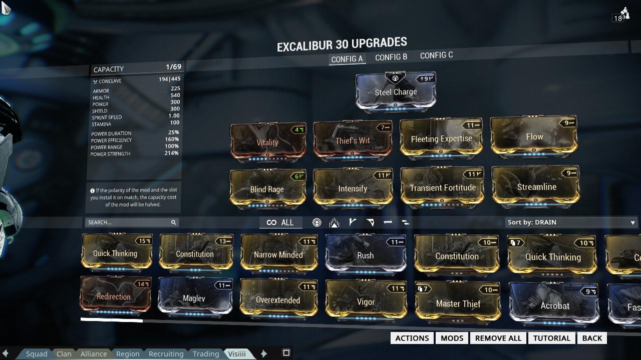 Warframe Exalted Blade Build