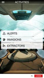 Actividades Warframe Nexus