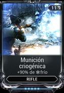 Munición criogénica