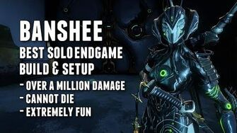 Warframe BEST SOLO ENDGAME BANSHEE BUILD & SETUP THE SLEEPER