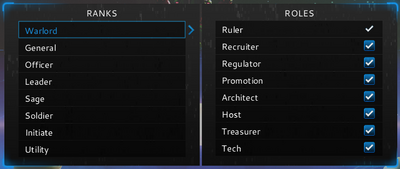 Clan rank and roles