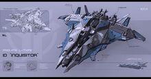 Futuristic sci fi Spaceship fighter jet comber frigate jericho inqusitor concept art design star wars starcaft 2 ii movie