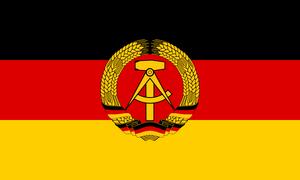 Flag East Germany
