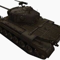 A rear left view of a M46 Patton