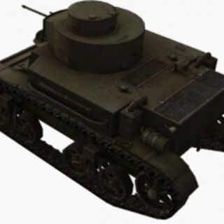 A rear left view of a M2 Light Tank