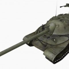 A front left view of a IS-7