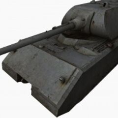 A front left view of a Maus